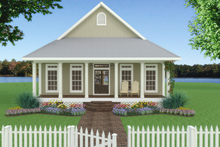 Architectural House Design - Cottage Exterior - Front Elevation Plan #44-165