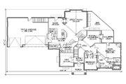 Colonial Style House Plan - 7 Beds 5.5 Baths 4603 Sq/Ft Plan #5-436 Floor Plan - Main Floor Plan