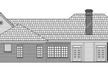 European Exterior - Rear Elevation Plan #21-119