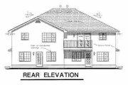 European Style House Plan - 3 Beds 2 Baths 2362 Sq/Ft Plan #18-246 Exterior - Rear Elevation