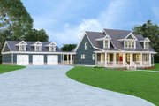 Country Style House Plan - 3 Beds 2.5 Baths 3362 Sq/Ft Plan #419-245 Exterior - Front Elevation