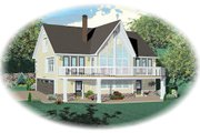 Country Style House Plan - 3 Beds 3 Baths 1900 Sq/Ft Plan #81-13786 Exterior - Front Elevation