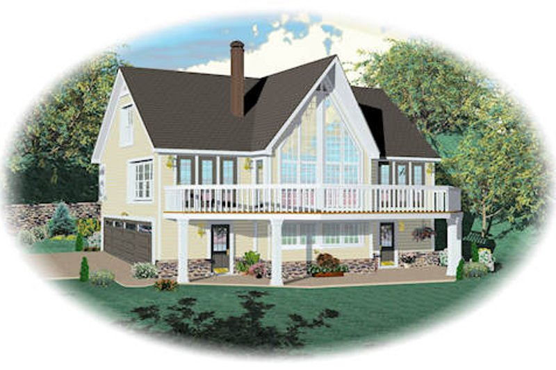 Country Style House Plan - 3 Beds 3 Baths 1900 Sq/Ft Plan #81-13786