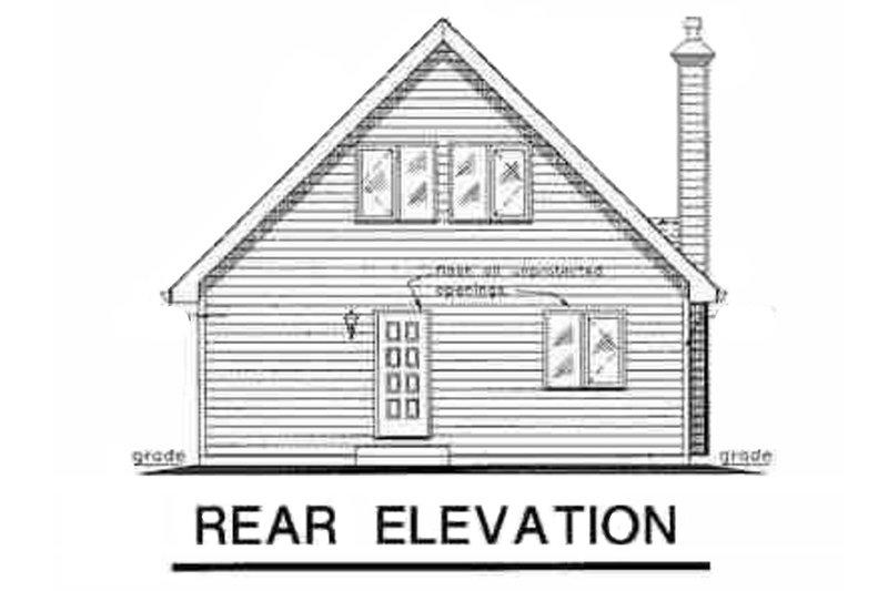 Cabin Exterior - Rear Elevation Plan #18-230 - Houseplans.com