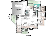 Traditional Style House Plan - 2 Beds 2.5 Baths 2111 Sq/Ft Plan #23-250 Floor Plan - Main Floor