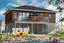 Architectural House Design - Contemporary Exterior - Rear Elevation Plan #23-2591