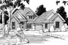 Home Plan - Traditional Exterior - Front Elevation Plan #20-229