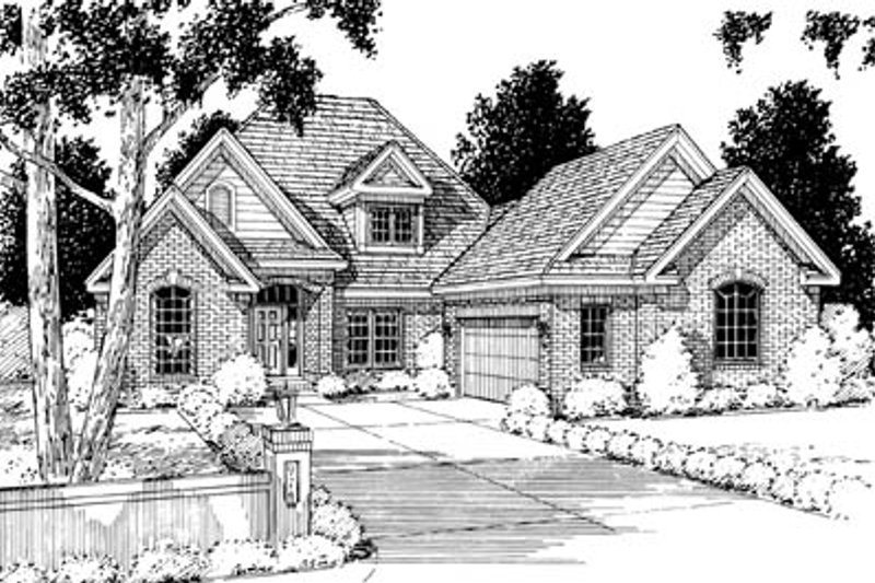 Architectural House Design - Traditional Exterior - Front Elevation Plan #20-229