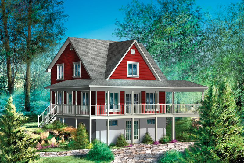 Country Style House Plan - 3 Beds 2 Baths 1514 Sq/Ft Plan #25-4739 Exterior - Front Elevation