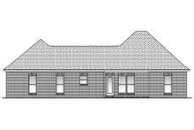 Home Plan Design - European Exterior - Rear Elevation Plan #430-53