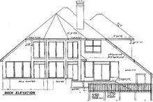 House Plan Design - Contemporary Exterior - Rear Elevation Plan #52-144