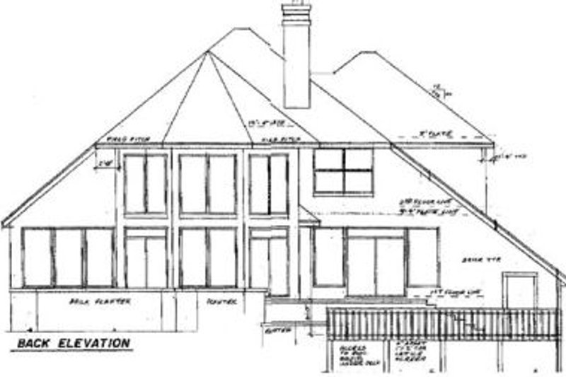Contemporary Exterior - Rear Elevation Plan #52-144 - Houseplans.com