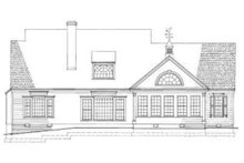 Architectural House Design - Country Exterior - Rear Elevation Plan #137-103