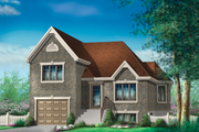 European Style House Plan - 2 Beds 2 Baths 1514 Sq/Ft Plan #25-4641 Exterior - Front Elevation