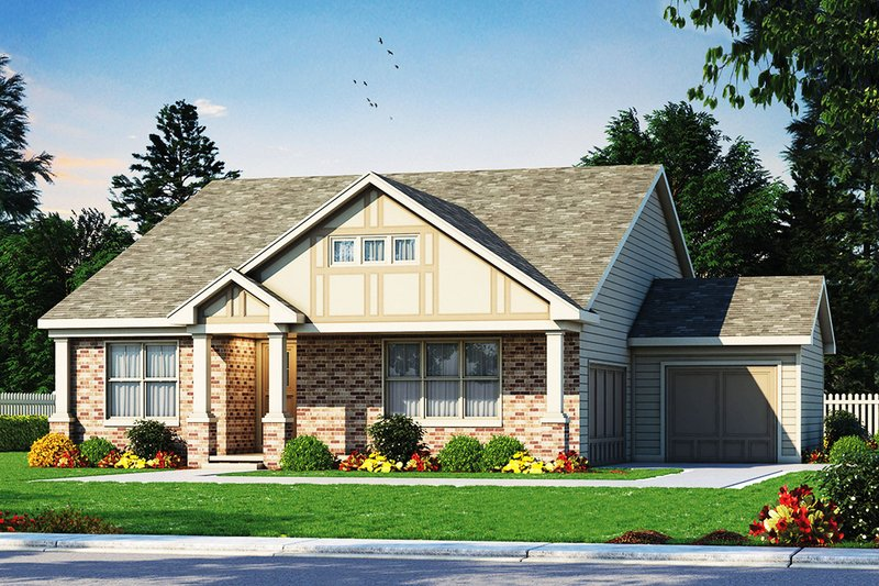 House Plan Design - Ranch Exterior - Front Elevation Plan #20-2331