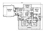 Farmhouse Style House Plan - 4 Beds 3 Baths 1938 Sq/Ft Plan #513-2184 Floor Plan - Main Floor Plan