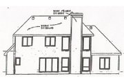 Traditional Style House Plan - 4 Beds 2.5 Baths 2339 Sq/Ft Plan #20-222 Exterior - Rear Elevation