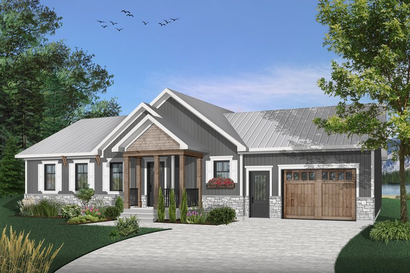 Home Plan - Traditional Exterior - Front Elevation Plan #23-2302