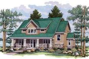 Craftsman Style House Plan - 3 Beds 2 Baths 3006 Sq/Ft Plan #51-224 Exterior - Front Elevation