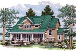 Craftsman Exterior - Front Elevation Plan #51-224