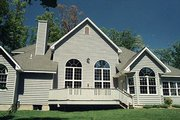 Traditional Style House Plan - 4 Beds 3.5 Baths 3376 Sq/Ft Plan #70-510 Exterior - Rear Elevation
