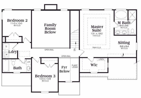 European Floor Plan - Upper Floor Plan Plan #419-149