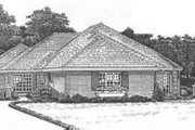 Traditional Style House Plan - 3 Beds 2 Baths 2336 Sq/Ft Plan #310-438 Exterior - Front Elevation