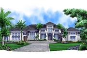 European Style House Plan - 4 Beds 4.75 Baths 5377 Sq/Ft Plan #27-455