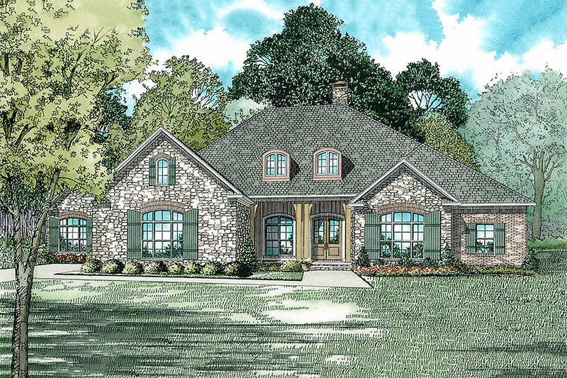 European Exterior - Front Elevation Plan #17-2532