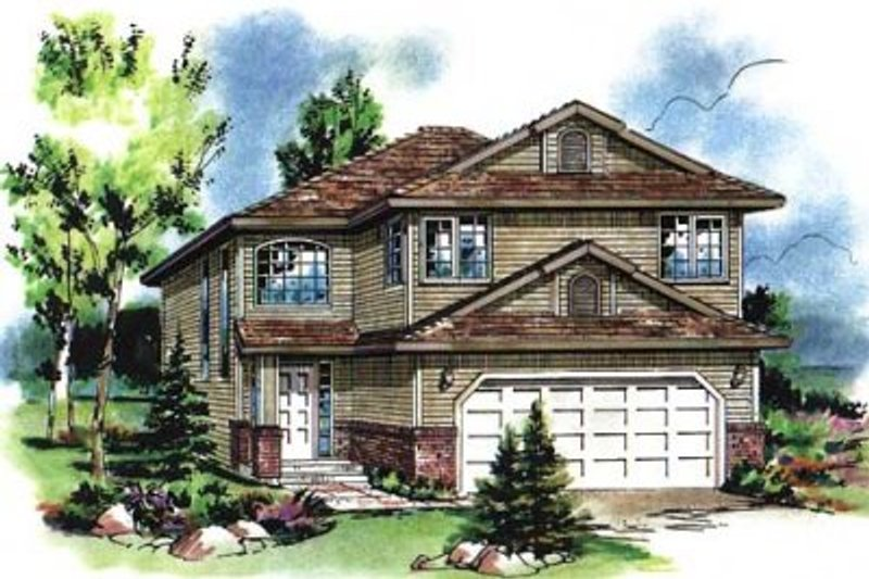 Traditional Style House Plan - 5 Beds 3 Baths 2020 Sq/Ft Plan #18-4259 Exterior - Front Elevation