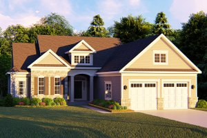 House Design - Ranch Exterior - Front Elevation Plan #1010-238