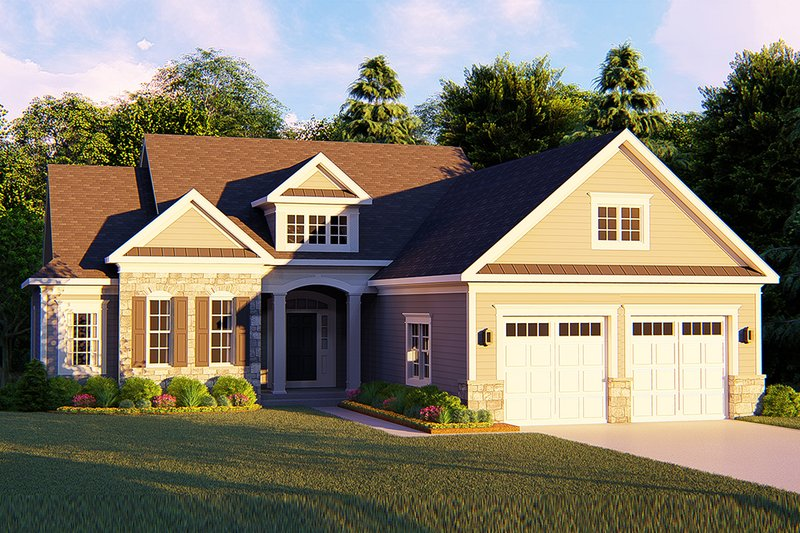 Architectural House Design - Ranch Exterior - Front Elevation Plan #1010-238