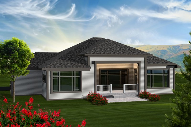Ranch Exterior - Rear Elevation Plan #70-1117 - Houseplans.com