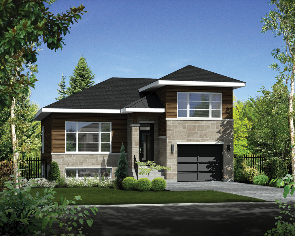 Contemporary style house plan 2 beds 1 baths 1317 sq ft for Maison eplans