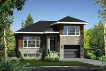 Dream House Plan - Contemporary Exterior - Front Elevation Plan #25-4296