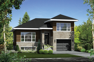 Home Plan - Contemporary Exterior - Front Elevation Plan #25-4296