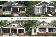 Craftsman Style House Plan - 3 Beds 2 Baths 1260 Sq/Ft Plan #461-4 Exterior - Other Elevation