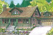 Bungalow Style House Plan - 3 Beds 2.5 Baths 2049 Sq/Ft Plan #124-485 Exterior - Front Elevation