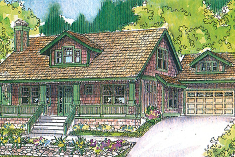 Home Plan - Bungalow Exterior - Front Elevation Plan #124-485
