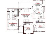 Bungalow Style House Plan - 3 Beds 2 Baths 1472 Sq/Ft Plan #63-307 Floor Plan - Main Floor Plan