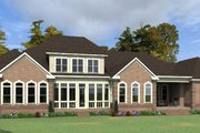 Colonial Style House Plan - 4 Beds 4 Baths 6129 Sq/Ft Plan #63-411 Exterior - Rear Elevation