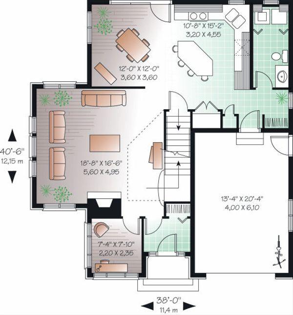 European Floor Plan - Main Floor Plan Plan #23-860