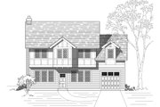 European Style House Plan - 3 Beds 2.5 Baths 1673 Sq/Ft Plan #423-36