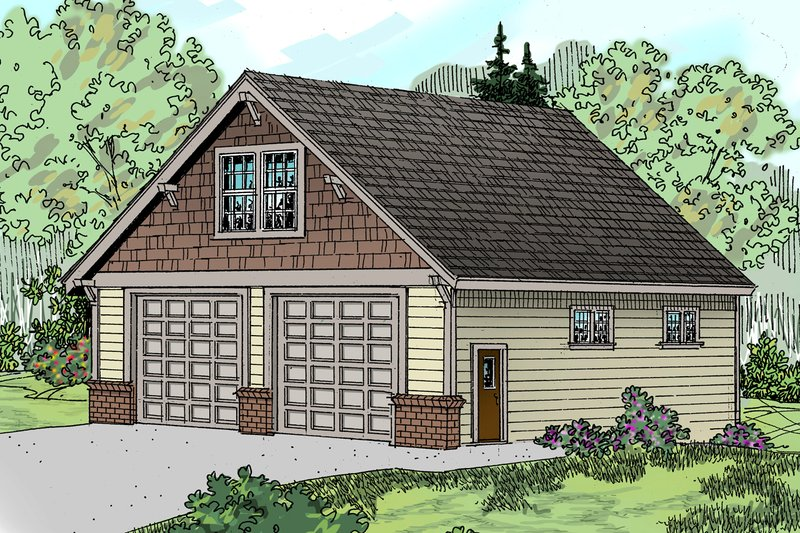 Craftsman Style House Plan - 0 Beds 0 Baths 657 Sq/Ft Plan #124-797