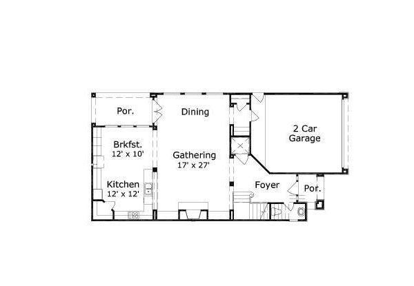 European Floor Plan - Main Floor Plan #411-650
