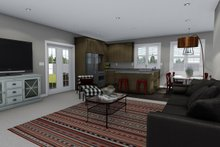 Ranch Interior - Family Room Plan #1060-42