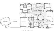 Mediterranean Style House Plan - 3 Beds 3.5 Baths 4368 Sq/Ft Plan #892-5 Floor Plan - Main Floor Plan