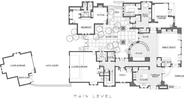 Mediterranean / Craftsman style house plan