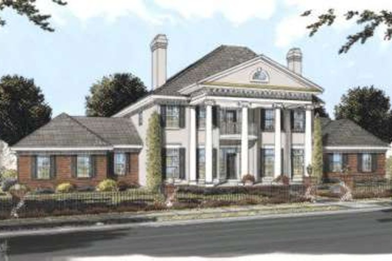 Colonial Exterior - Front Elevation Plan #20-1684