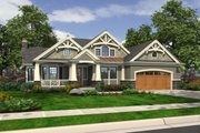 Craftsman Style House Plan - 3 Beds 2 Baths 2320 Sq/Ft Plan #132-232 Exterior - Front Elevation